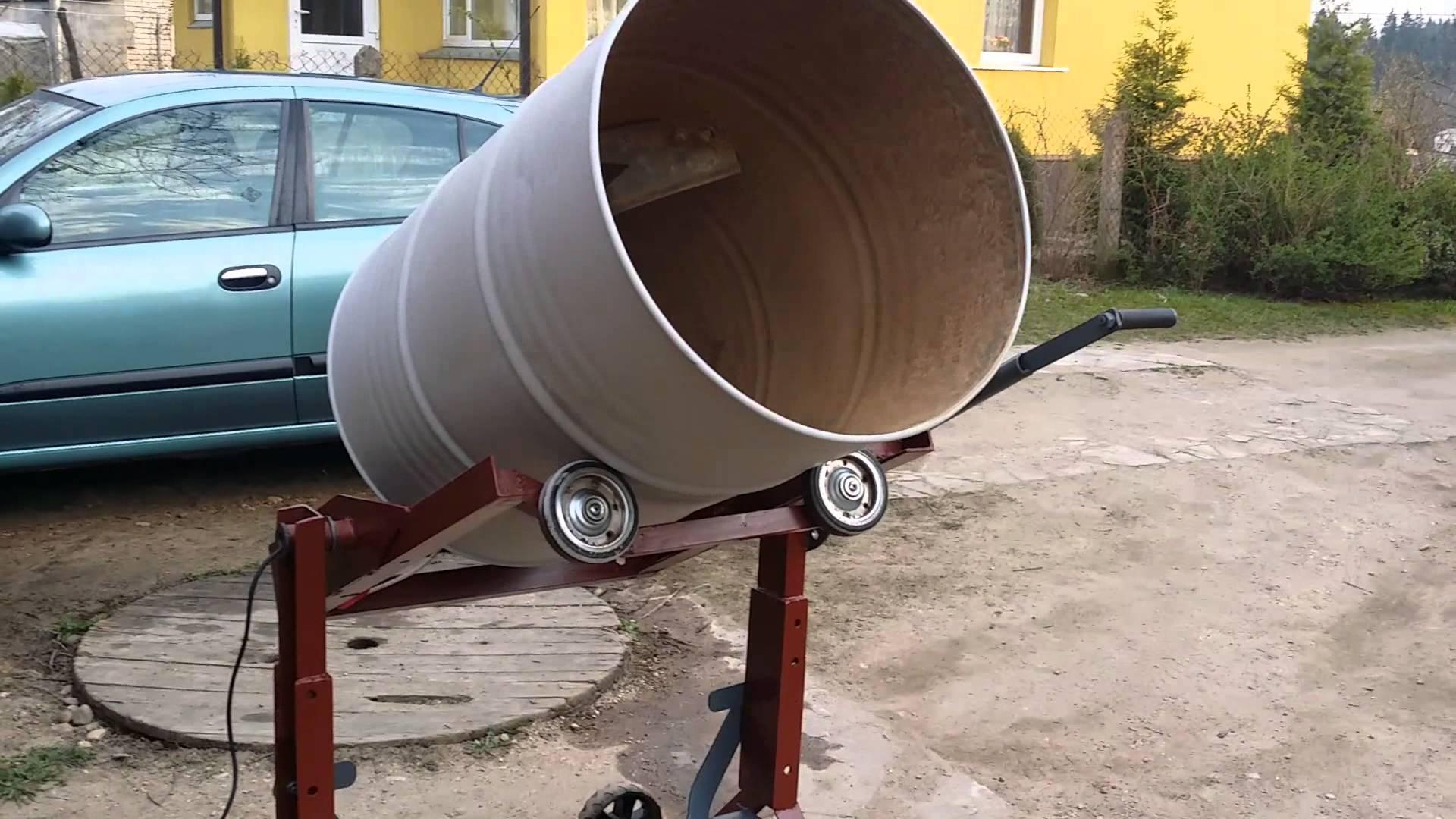 Как сделать бетономешалку своими руками из стиральной