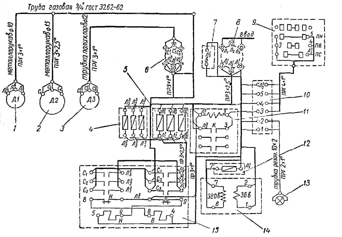 Электросхема ТВ-4
