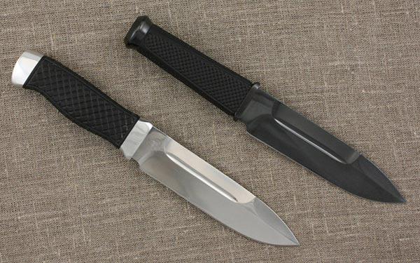 Нож с воронением
