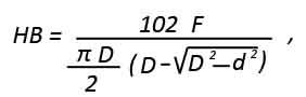 Формула Бринелля