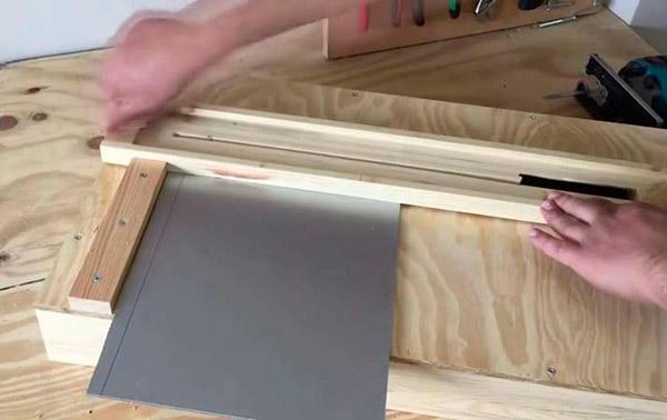 Вырезание накладки на стол начало