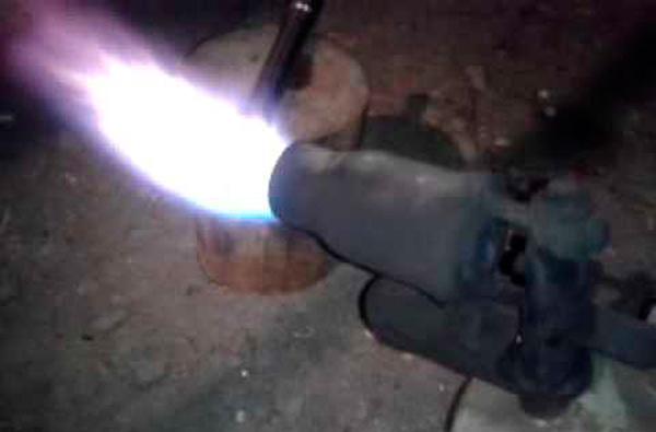Закалка паяльной лампой