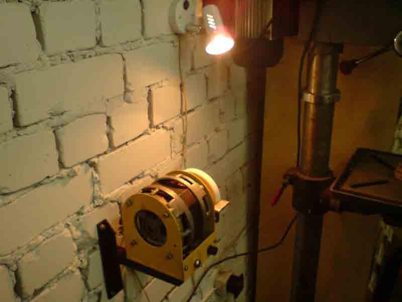 Освещение над станком