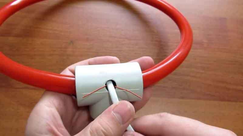 Концы провода припайка