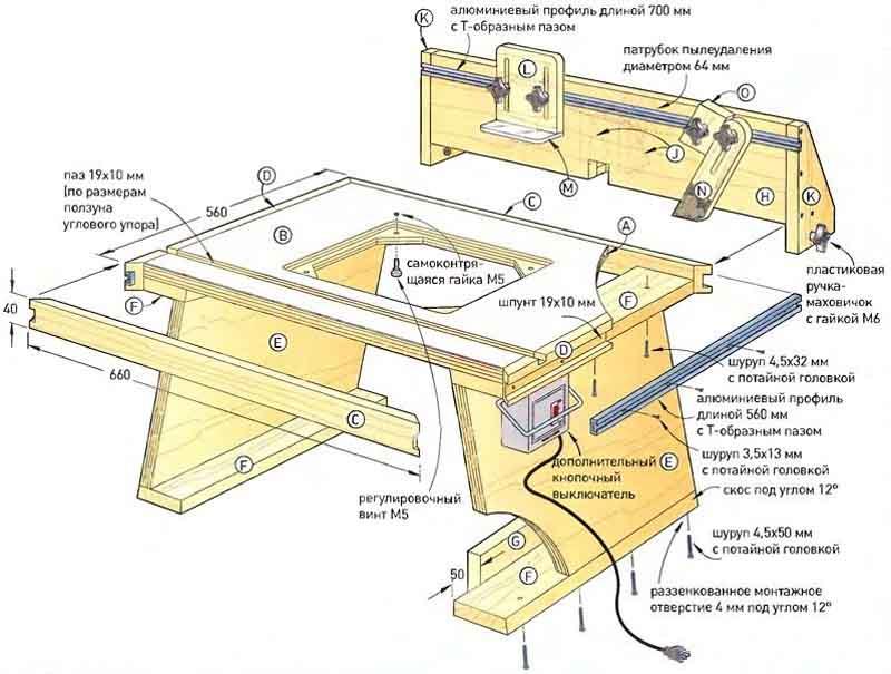 Малогабаритный фрезерный стол