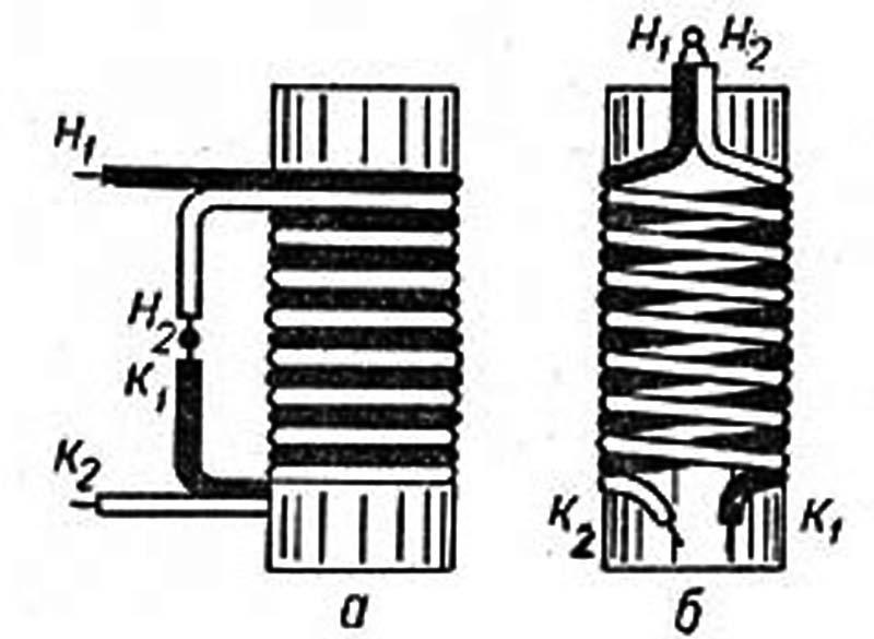 Типы симметричных намоток